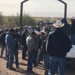 Protesta comunidad de mormones de Lebaron contra barzonistas