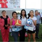 Inaugura Lilia Merodio unidad deportiva San Francisco en Meoqui
