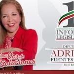 Ofrece diputada Adriana Fuentes primer informe legislativo