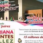 Colocará Adriana Fuentes primera piedra de Gimnasio de Usos Múltiples en El Mezquital