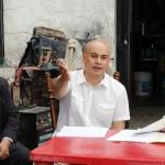 Acude Miguel La Torre con comerciantes de la Avenida Ocampo